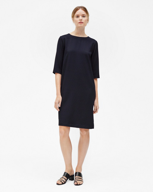 Textured Tee Dress Navy