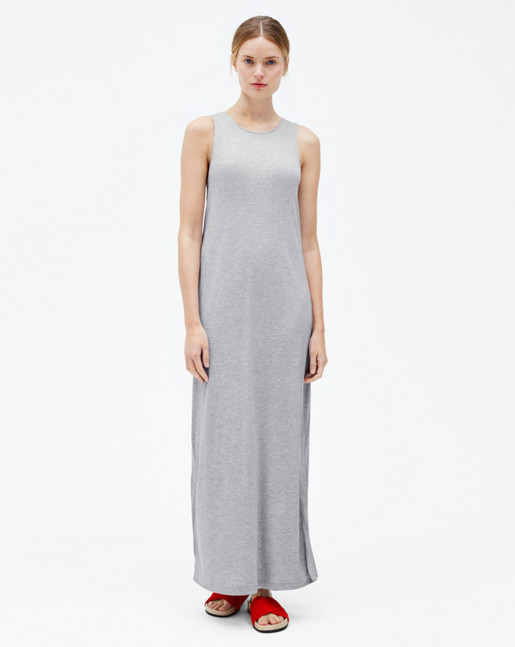 Twisted Tank Dress Grey Melange
