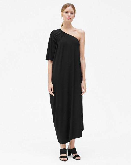 Asymmetric Evening Dress Black