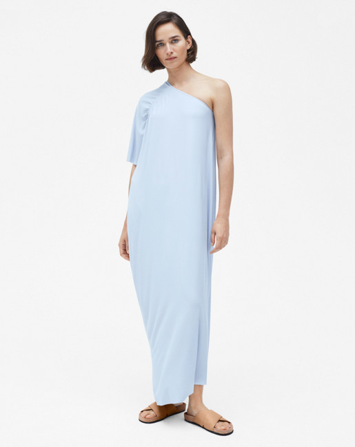 Asymmetric Evening Dress Skylight