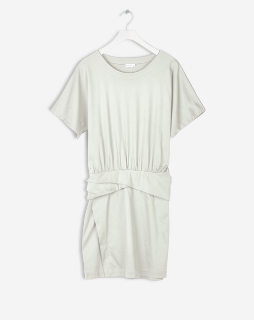 Twisted Belt T-shirt Dress Bone