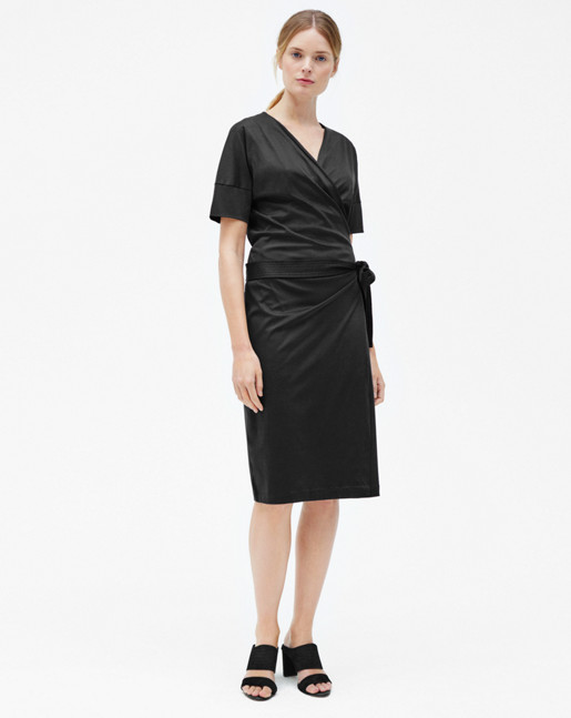 Belted Wrap Dress Black