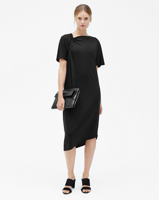 Smock T-shirt Dress Black