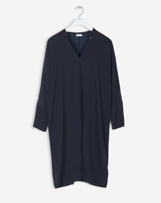 Drapey Tunic Dress Navy