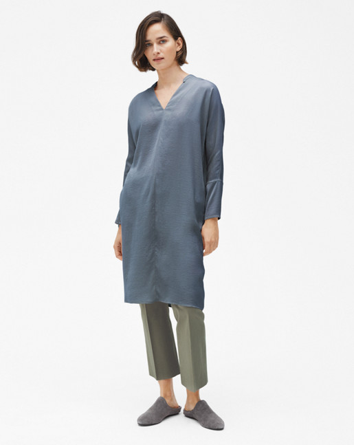 Drapey Tunic Dress Pigeon