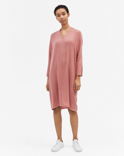 Drapey Tunic Dress Salmon