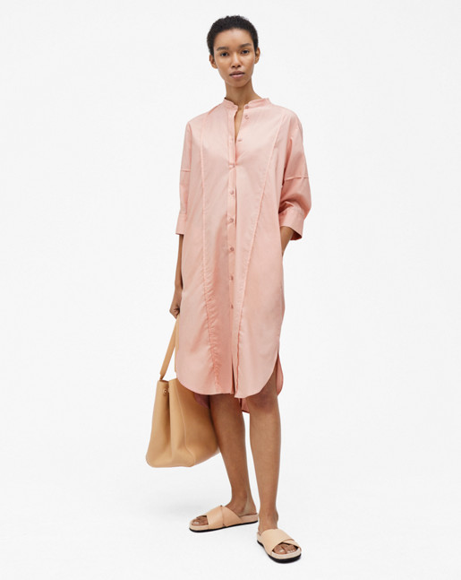 Cotton Shirt Dress Petal