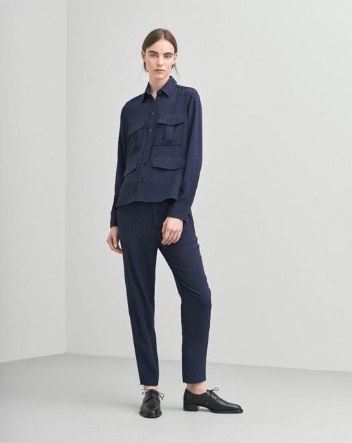 Hanna Drapey Shirt Jacket Grape