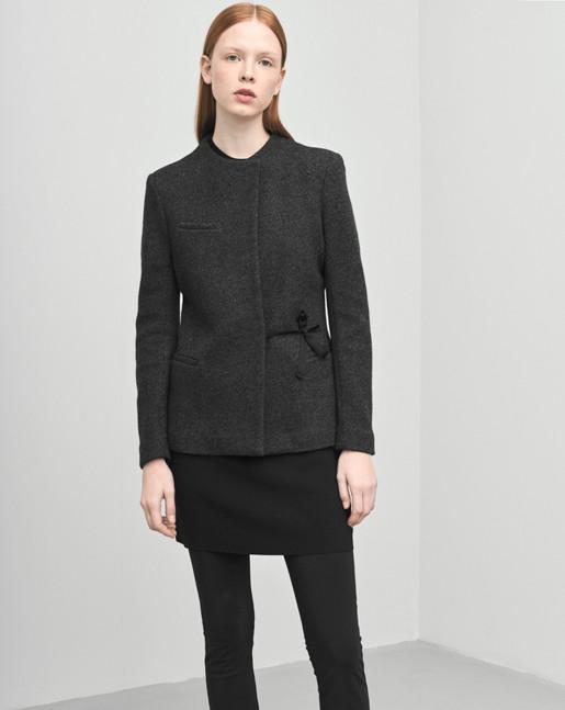 Boiled Wool Jersey Jacket