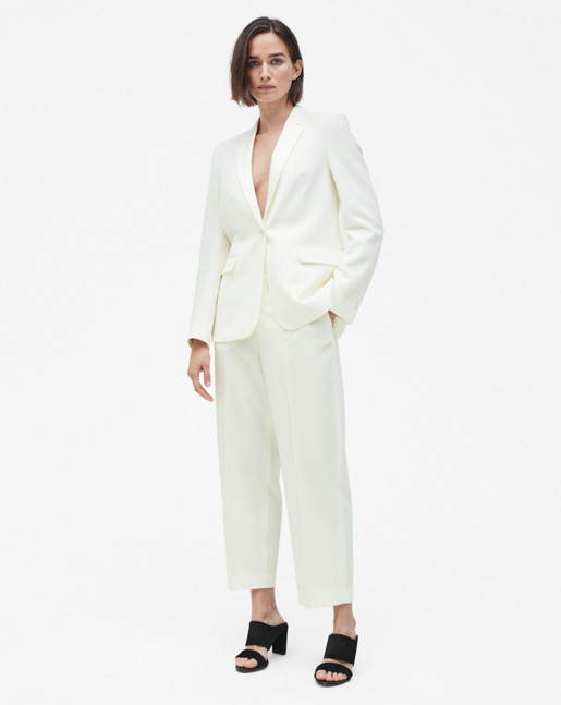 Leah Luxe Jacket Off White
