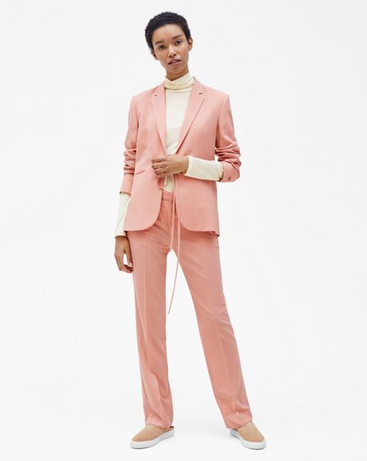 Bea Tie Front Jacket Rose