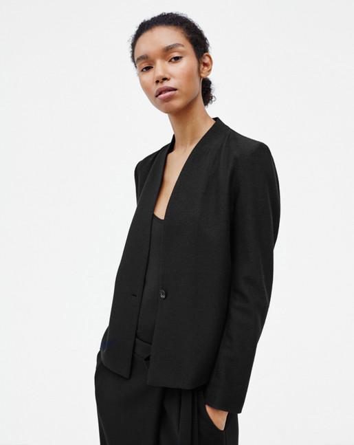 Erin Jersey Jacket Black