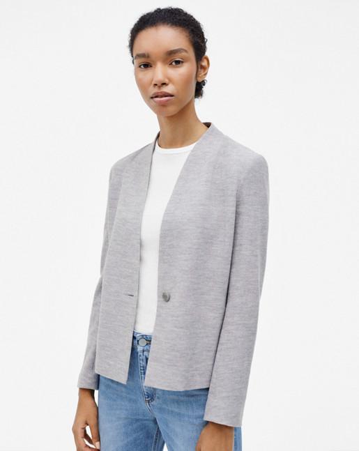 Erin Jersey Jacket Grey Mel