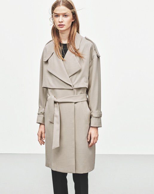 Ruby Twill Trench