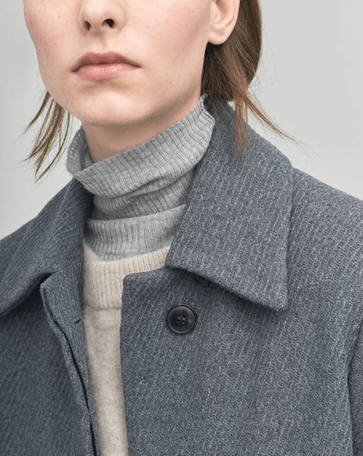 Iza Wool Belt Coat Grey