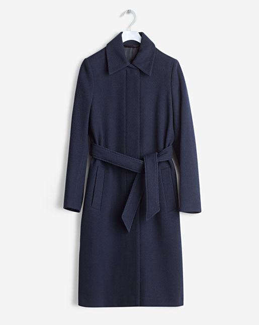Iza Wool Belt Coat →