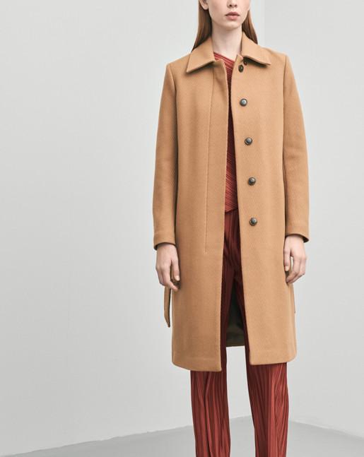 Iza Wool Belt Coat Nougat