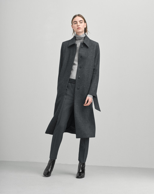 Iza Long Wool Coat Antracite