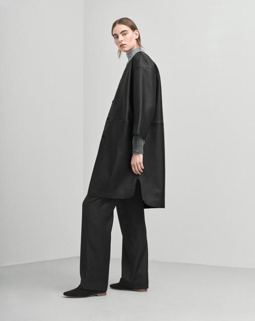 Alicia Leather Coat Black