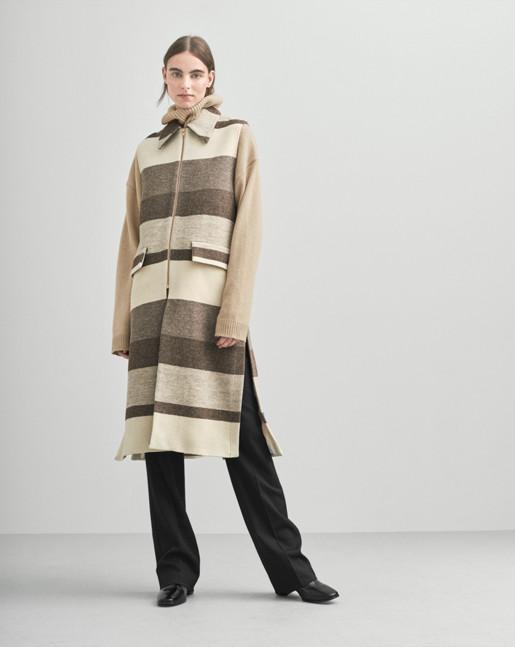 Hollie Block Stripe Vest Coat