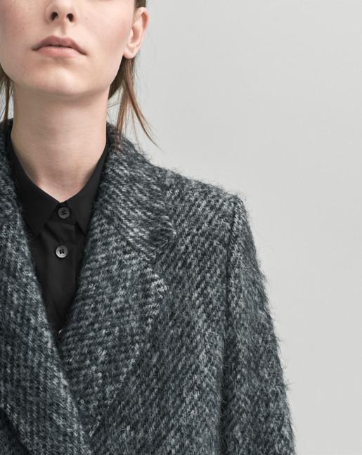 Lauren Mohair Coat Antracite