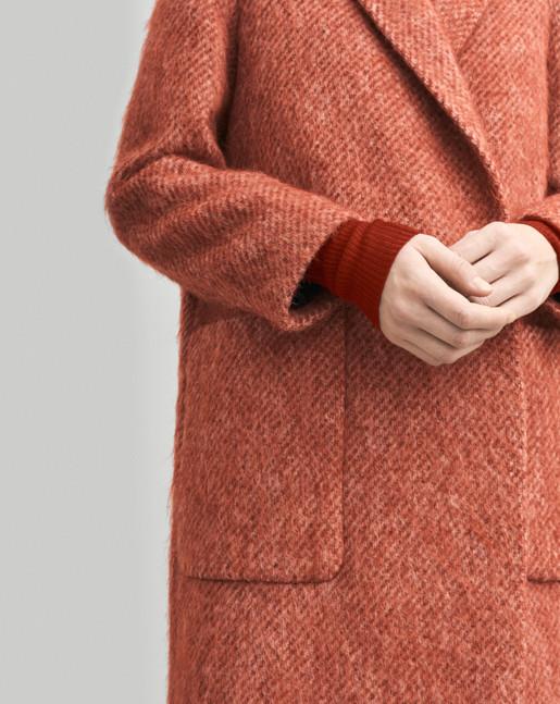 Lauren Mohair Coat Red Rust