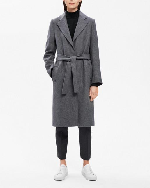 Eden Belted Coat Grey Mel.