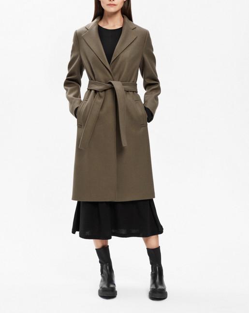 Eden Belted Coat Olive