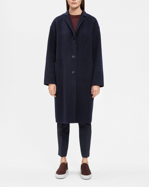 Parker Double Face Wool Coat Navy