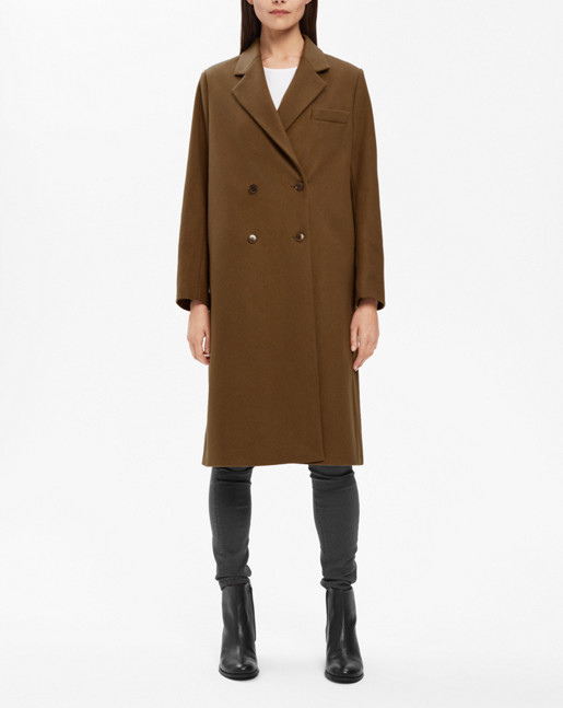 Edine Tailored Coat Army
