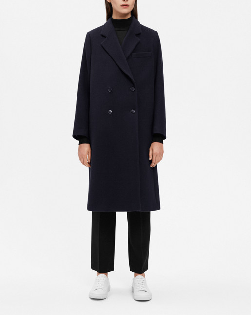 Edine Tailored Coat Navy