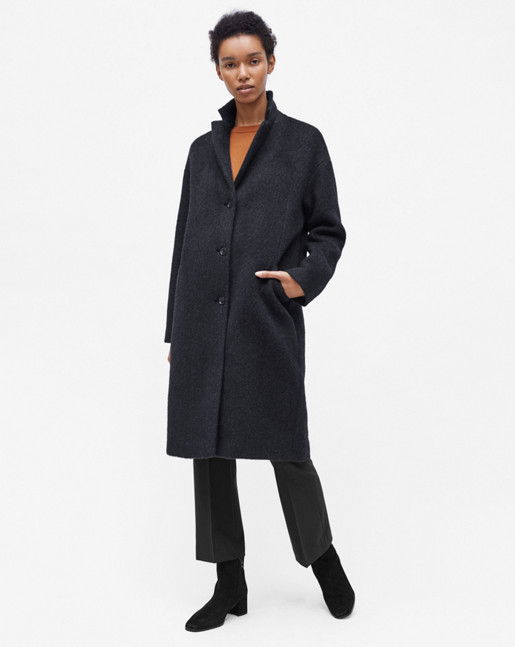 Parker Plush Wool Coat Antracite