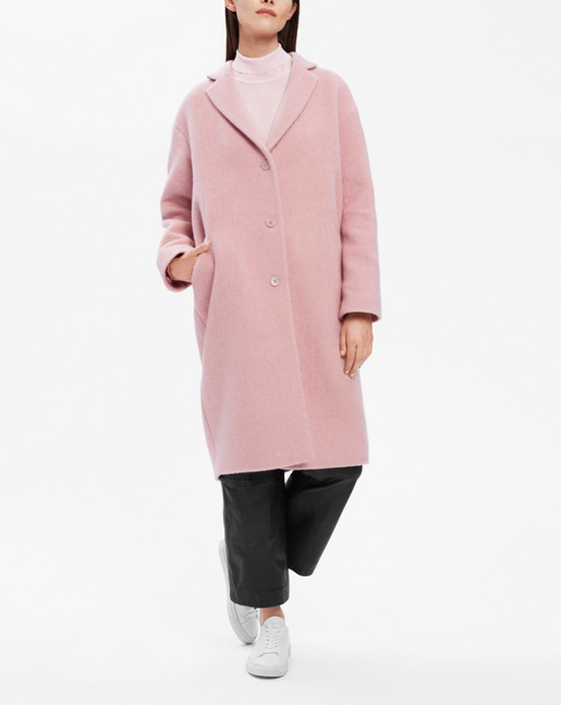 Parker Plush Wool Coat Powder Pink