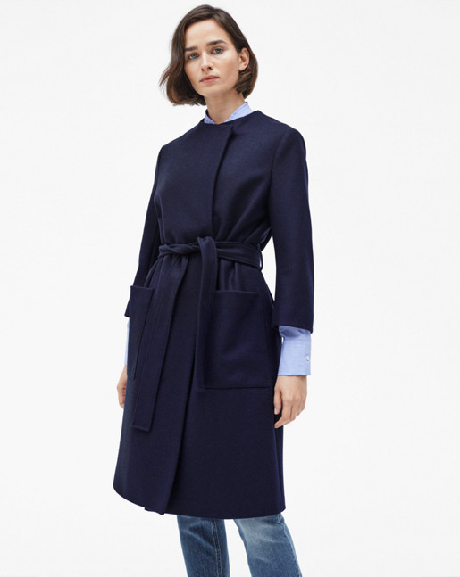Blair Belt Coat Navy