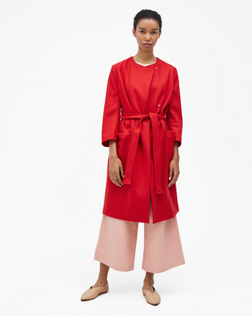 Blair Belt Coat Rouge