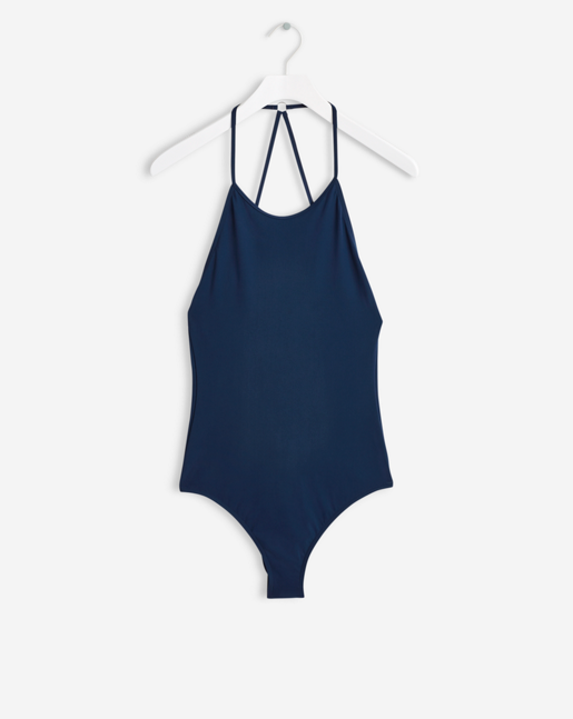 Tie-back Swimsuit Ocean Blue