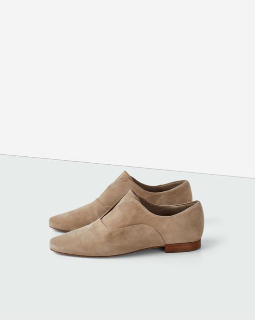 Andie Flat Shoe Beige Suede