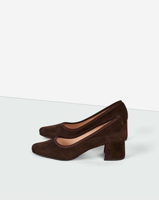 Fei Mid Heel Shoe Dk Chocolate