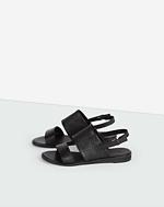 Uma Flat Sandal Black