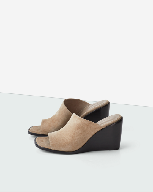 Abbi Wedge Mule Beige