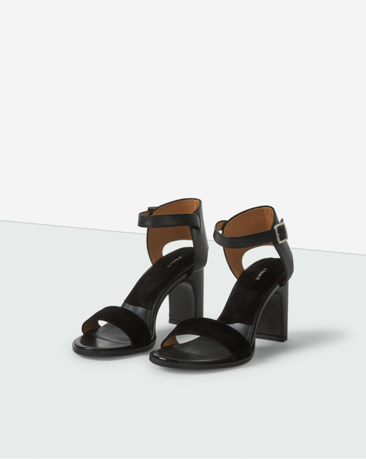 Lacey High Sandal Black Suede