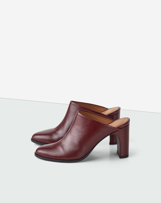 Lora High Mule Burgundy