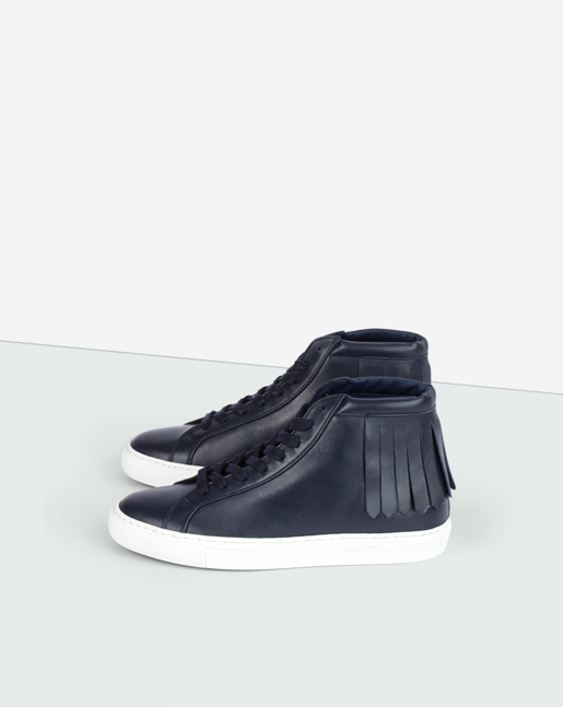 Kate High Fringe Sneaker Bright Navy