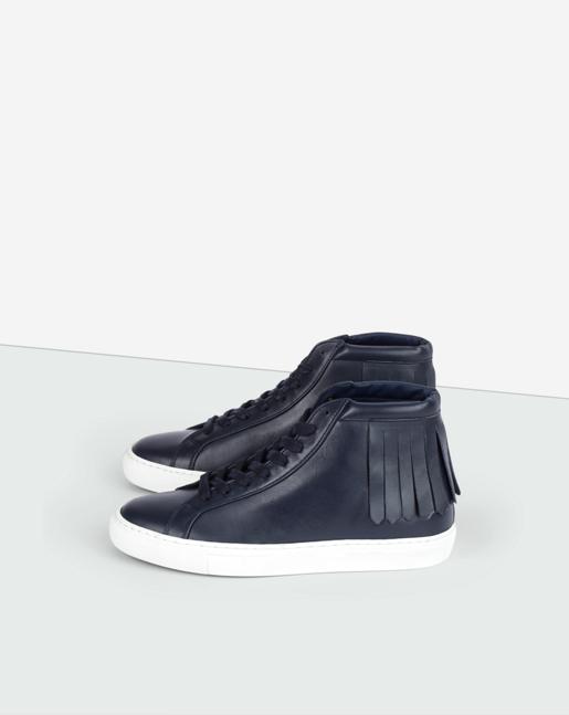 Kate High Fringe Sneaker Bright Navy
