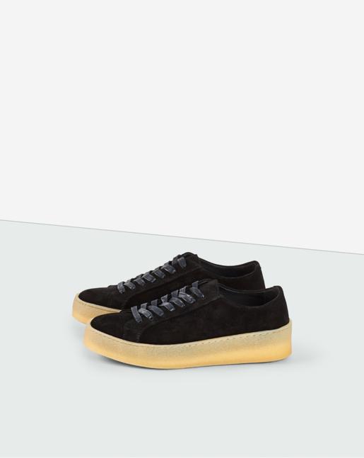 Kate Crepe Sneaker Black Suede
