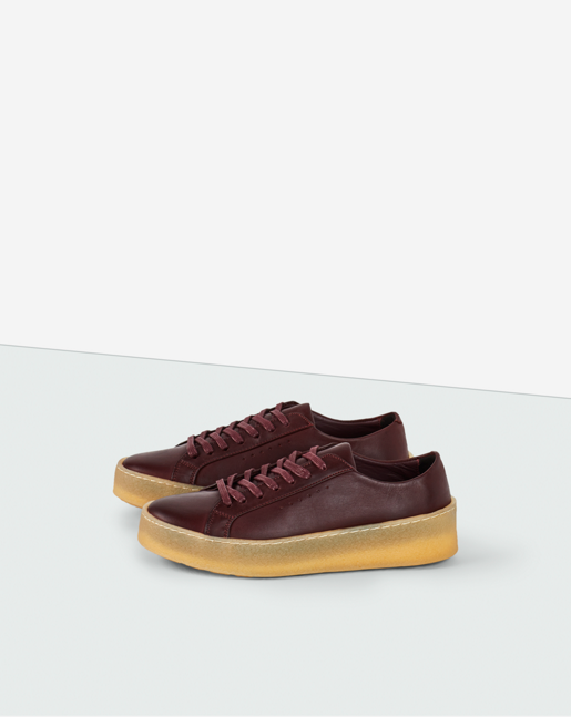 Kate Crepe Sneaker Bordeaux