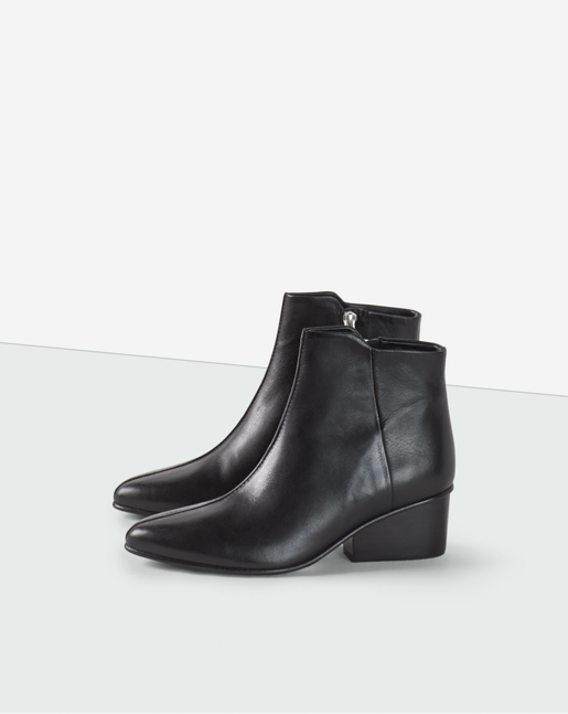 Norma Zip Bootie Black