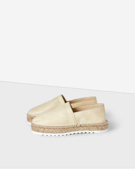 Leather Espadrilles Off White