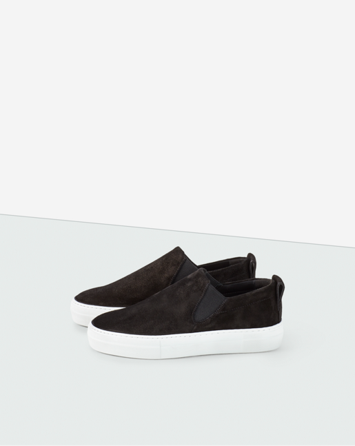 Brooke Suede Slip On Black