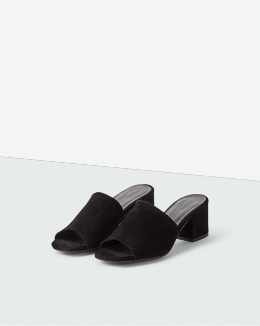 Loreen Suede Mule Black